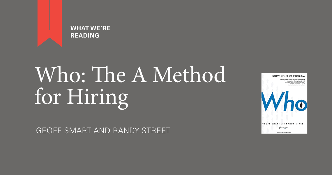 Who: The A Method for Hiring - Parcel Design